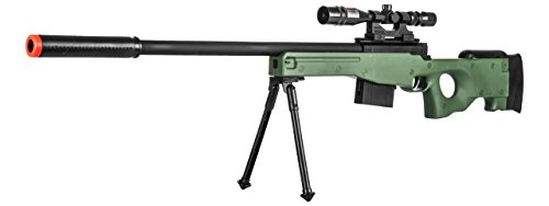 Lancer Tactical  2 300 FPS - Airsoft Sniper Spring Rifle Gun with Scope and Laser