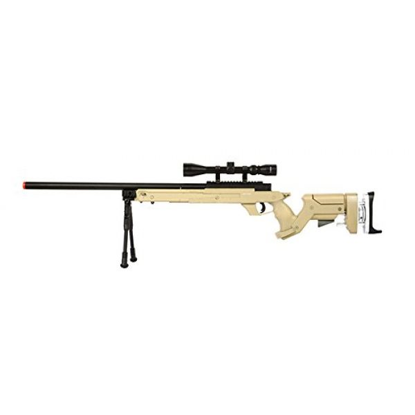 Well Airsoft Rifle 1 Well SR22 Bolt Action Type 22 Sniper Rifle Airsoft Gun (Tan/Scope & Bipod Package)