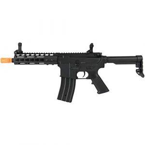"Lancer Tactical Airsoft Rifle 1 Lancer Tactical Golden Eagle F6637 Elite Series 7"" KeyMod CQB AEG Airsoft Rifle Black"