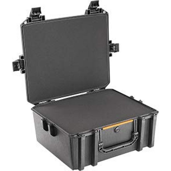 Pelican Pistol Case 2 Vault by Pelican - V600 Large Pistol/Equipment Case with Foam (Black)