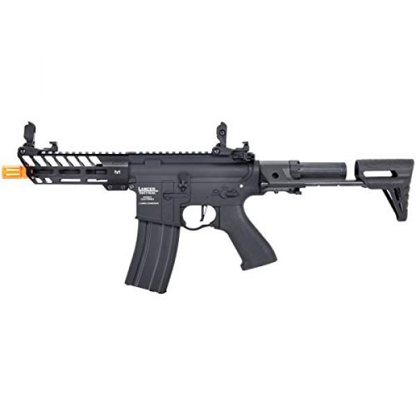 Lancer Tactical Airsoft Rifle 1 Lancer Tactical ProLine NEEDLETAIL PDW Airsoft AEG Rifle Low 350 FPS Black