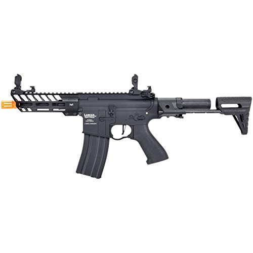 Lancer Tactical  1 Lancer Tactical ProLine NEEDLETAIL PDW Airsoft AEG Rifle Low 350 FPS Black