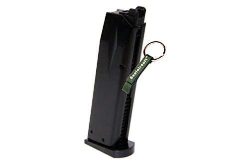 KJW  1 KJ Works 24rds Airsoft Metal 6mm Gas Magazine For P226 KP01 GBB -Mobile Ring Included