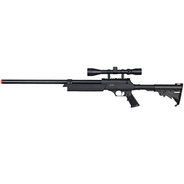 Well Airsoft Rifle 1 Well MB06A Full Metal ASR MB06 SR-2 Spring Sniper Rifle Airsoft Gun (Black/Scope Package)