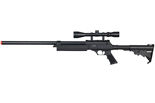 Well  1 Well MB06A Full Metal ASR MB06 SR-2 Spring Sniper Rifle Airsoft Gun (Black/Scope Package)