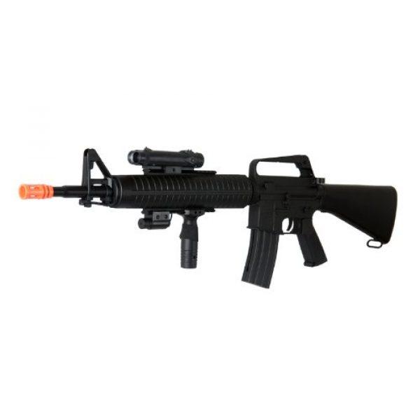 Well Airsoft Rifle 6 Well m16-a3 RIS Spring Airsoft Gun Assault Rifle fps-340 w/Aiming Sight, Flashlight, high Capacity Magazine(Airsoft Gun)