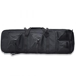 Fouos Rifle Case 1 FOUOS 85cm Tactical Rifle Case, Military Rifle Storage Case, M4 Gun Bag Adjustable Shoulder Strap Gun Bag Pistol Airsoft Backpack for Hunting,