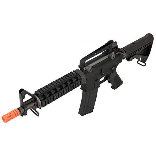 Lancer Tactical Airsoft Rifle 3 Lancer Tactical WE Full Metal M4 CQB RIS Open Bolt Gas Blowback Airsoft Rifle Black 420 FPS
