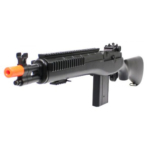 Electric Airsoft Rifle 2 enhanced 2012 full auto electric fps-330 m14 aeg fully automatic and semi automatic airsoft electric gun w/ rail system! 34 inches long! free high capacity magazine, ready to go right out of the box!(Airsoft Gun)
