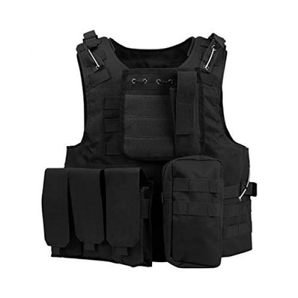 mimeng Airsoft Tactical Vest 1 mimeng Tactical Protective Vest CS Outdoor Training Equipment Fishing Hunting Strength Training Safety Protective Vest
