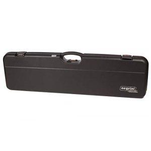 Negrini Cases Rifle Case 1 Negrini Cases 1603/IS-2C/4782 Shotgun Case for O/U PP/1 Gun/2 Barrels up to 36-Inch, Black/Red