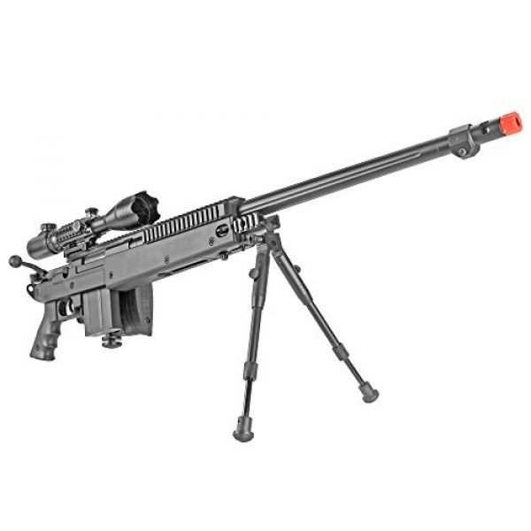 BBTac Airsoft Rifle 4 BBTac Well MB04 G-22 AWM Airsoft Sniper Rifle with 3-9 x 40 Scope and Bi-Pod
