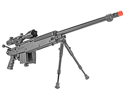 BBTac  4 BBTac Well MB04 G-22 AWM Airsoft Sniper Rifle with 3-9 x 40 Scope and Bi-Pod