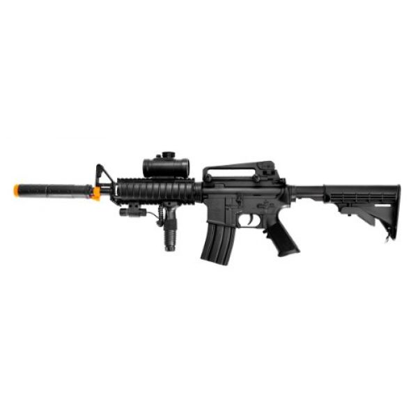 Double Eagle Airsoft Rifle 1 Double Eagle m83a2 m16 Electric Airsoft Gun Full auto fps-250 w/Flashlight, foregrip, red dot Scope, Silencer(Airsoft Gun)