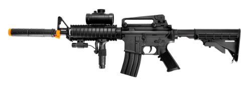 Double Eagle  1 Double Eagle m83a2 m16 Electric Airsoft Gun Full auto fps-250 w/Flashlight