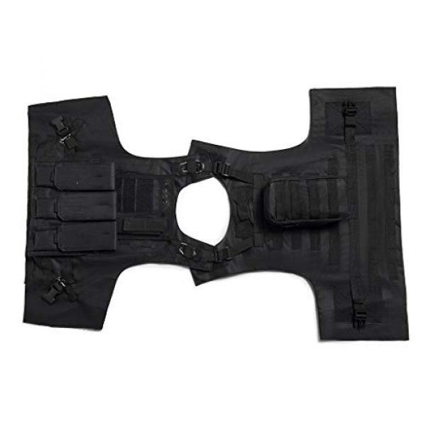 Jipemtra Airsoft Tactical Vest 3 Jipemtra Tactical MOLLE Airsoft Vest Adjustable Paintball Combat Training Vest Detachable (Black)