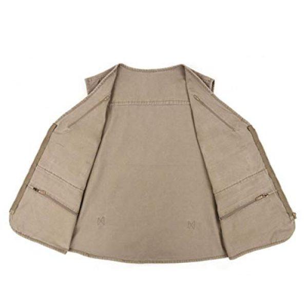 DAFREW Airsoft Tactical Vest 4 DAFREW Multi-Pocket Vest Fishing Vest Outdoor Photography Vest Spring and Autumn Solid Color Vest (Color : Beige, Size : XXXXL)
