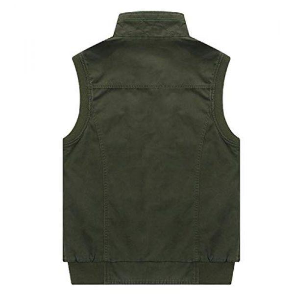DAFREW Airsoft Tactical Vest 7 DAFREW Men's Vest Vest Casual Cotton Vest Men's Outdoor Travel Vest (Color : Khaki, Size : XL)