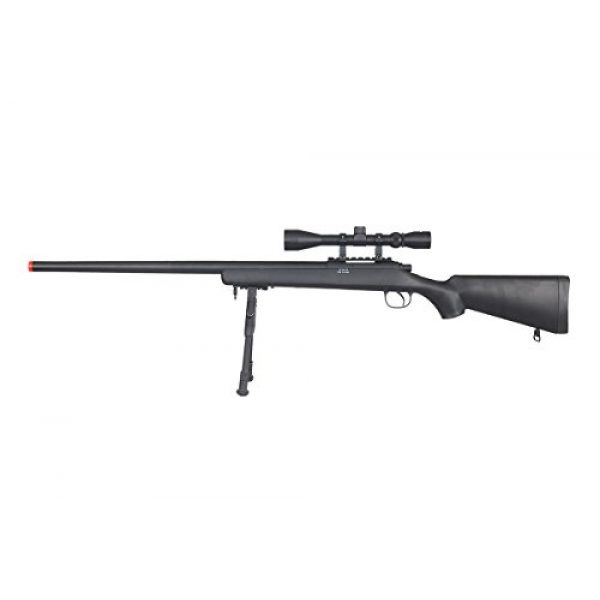 Well Airsoft Rifle 1 Well VSR-10 Bolt Action Airsoft Rifle w/Scope And Bipod (Black/Long)