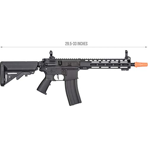 Lancer Tactical  1 Lancer Tactical Classic Army Skirmish Series ML10 M4 M-LOK AEG Airsoft Rifle Black 350 FPS