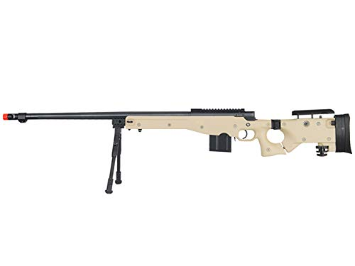 Well  1 Well MB4403 Airsoft Sniper Rifle W/Bipod - Tan