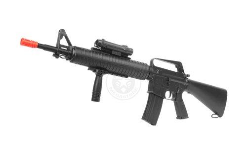 Well  1 wellfire m16a3 Spring Airsoft Rifle - w/Vertical Grip & Flashlight Unit m16(Airsoft Gun)