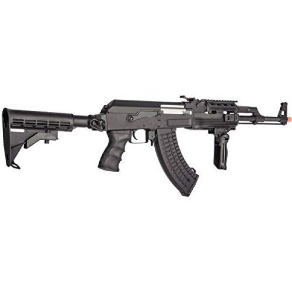 Lancer Tactical Airsoft Rifle 4 Lancer Tactical Airsoft Full Metal AK-47 AEG Rifle LE Stock with Battery & Charger Black