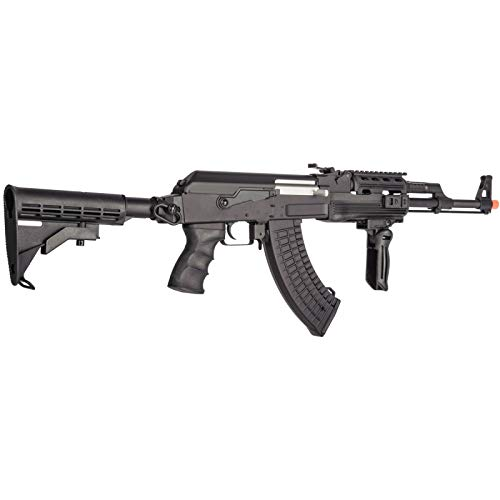 Lancer Tactical  4 Lancer Tactical Airsoft Full Metal AK-47 AEG Rifle LE Stock with Battery & Charger Black