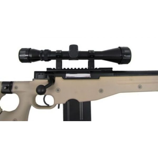 Prima USA Airsoft Rifle 3 well l96 heavy single bolt action spring airsoft sniper rifle with scope tan(Airsoft Gun)