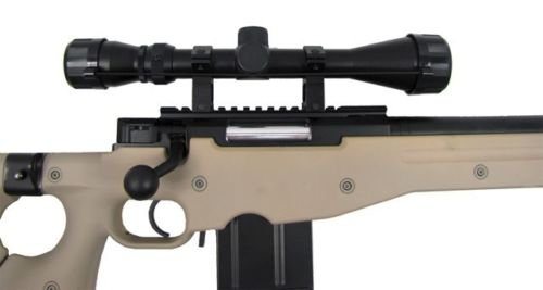 Prima USA  3 well l96 heavy single bolt action spring airsoft sniper rifle with scope tan(Airsoft Gun)
