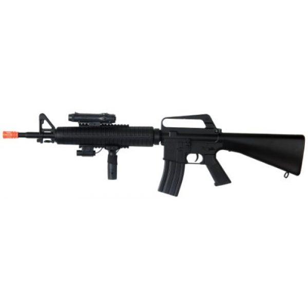 Well Airsoft Rifle 1 Well m16-a3 RIS Spring Airsoft Gun Assault Rifle fps-340 w/Aiming Sight, Flashlight, high Capacity Magazine(Airsoft Gun)
