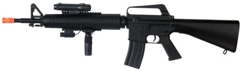 Well  1 Well m16-a3 RIS Spring Airsoft Gun Assault Rifle fps-340 w/Aiming Sight