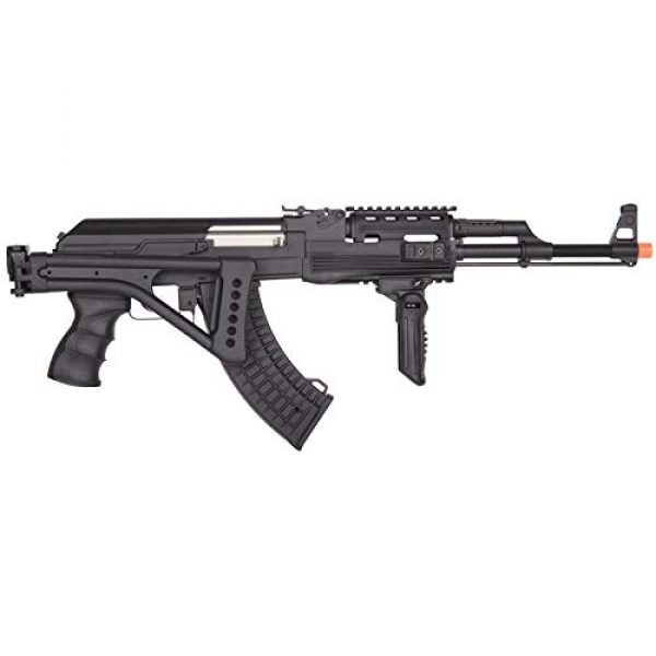 Lancer Tactical Airsoft Rifle 3 Lancer Tactical LT-728U AEG Airsoft Rifle with Folding Stock with Battery and Charger Black