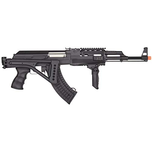 Lancer Tactical  3 Lancer Tactical LT-728U AEG Airsoft Rifle with Folding Stock with Battery and Charger Black