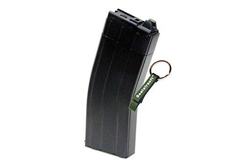 KJW  1 KJ Works 30rds Airsoft 6mm GAS Tanio Koba V2 Magazine For M4 Series GBB Black -Mobile Ring Included