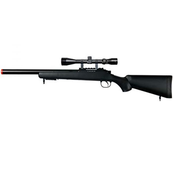 Well Airsoft Rifle 1 Well MB02 Airsoft Sniper Rifle W/Scope - Black