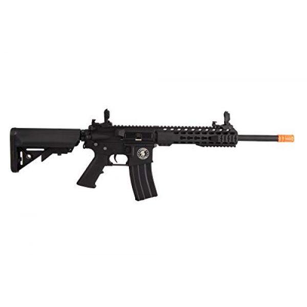 "Lancer Tactical Airsoft Rifle 2 Lancer Tactical LT-19BL-G2-M Gen 2 Airsoft M4 Carbine 10"" AEG Rifle Black"