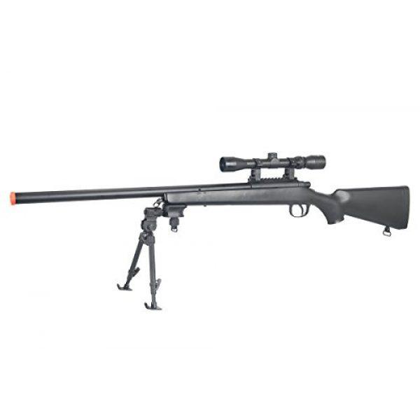 AGM Airsoft Rifle 1 AGM Full Metal MP-001 Spring Sniper Rifle Airsoft Gun (Black/Scope & Bipod Package)
