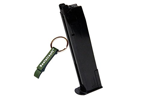WE  1 WE 30rds P226 Airsoft Gas Magazine For P Viruses GBB Pistol (Black) -Mobile Ring Included