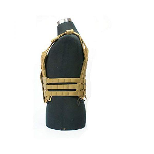 PJKKawesome Airsoft Tactical Vest 3 Tactical Vest Men's Vest Camouflage Breathable Vests with Multiple Pockets-Combat Training Vest Suitable for Outdoor Activities Khaki