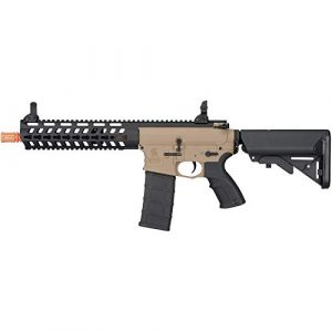 """Lancer Tactical Airsoft Rifle 1 Lancer Tactical 10.5"""" Rapid Deployment Carbine M4 RDC Airsoft AEG Rifle Low Speed Tan"""