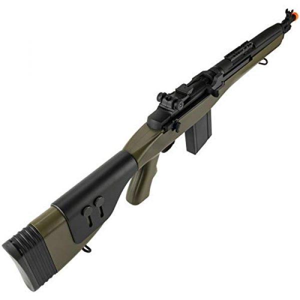 "Lancer Tactical Airsoft Rifle 5 Lancer Tactical LT-732 DMR Stock 38"" M14 SOCOM Airsoft AEG Rifle OD Green"