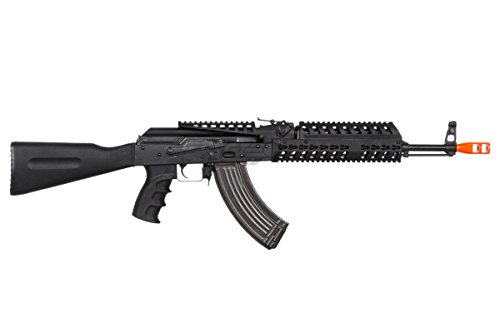 Lancer Tactical  5 Lancer Tactical LT104B AK47 Tactical Keymod Rifle Blowback AEG Airsoft Rifle by Lonex (Black)