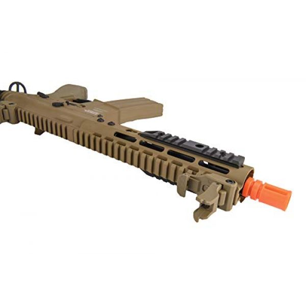 """Lancer Tactical Airsoft Rifle 5 Lancer Tactical Proline 9"""" KeyMod with Picatinny M4 Carbine AEG Airsoft Rifle Tan 395 FPS"""