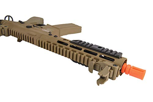 "Lancer Tactical  5 Lancer Tactical Proline 9"" KeyMod with Picatinny M4 Carbine AEG Airsoft Rifle Tan 395 FPS"