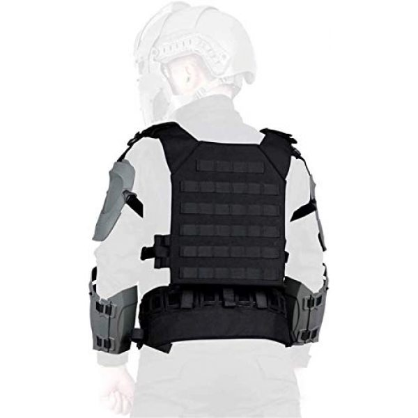 EBWLI Airsoft Tactical Vest 7 EBWLI Paintball Helmet and Armor Set, Hunting Paintball Protective Carrier Shooting Accessories with Waist Belt, for Airsoft/Nerf Game/Paintball,Black (Color : Gray)