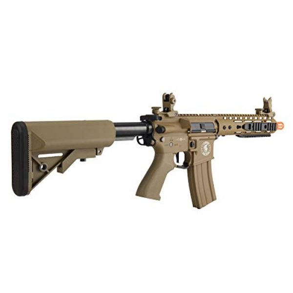 """Lancer Tactical Airsoft Rifle 3 Lancer Tactical Proline 9"""" KeyMod with Picatinny M4 Carbine AEG Airsoft Rifle Tan 395 FPS"""