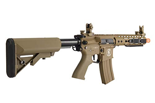 "Lancer Tactical  3 Lancer Tactical Proline 9"" KeyMod with Picatinny M4 Carbine AEG Airsoft Rifle Tan 395 FPS"