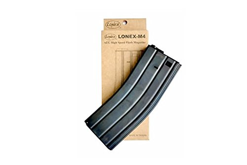 LONEX  2 LONEX Airsoft M4 M16 Scar Metal Flash Magazine MAG 360RDS ASG with Pull Cord UK x8