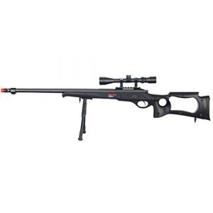Well Airsoft Rifle 1 Well MB10 Airsoft Sniper Rifle W/Scope and Bipod - Black